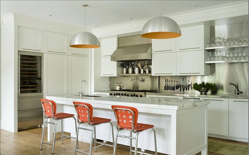 roth white orange kitchen stainless steel backsplash modern orange