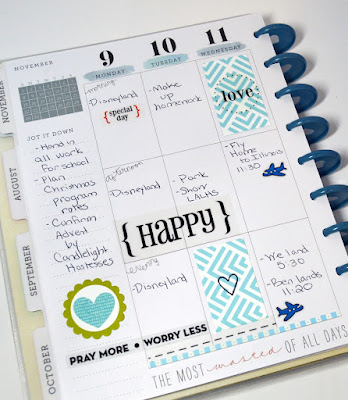 SRM Stickers Blog - Planner Pages by Christine - #planner #november #lifeisgood #clearstamps #stickerstitches #quickcards #stickers #calendarcompanion #calendarmonths #basketball #haveaball #piano #littleborders #shineyourlight #faith