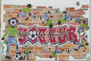 soccer Mosaic drawing