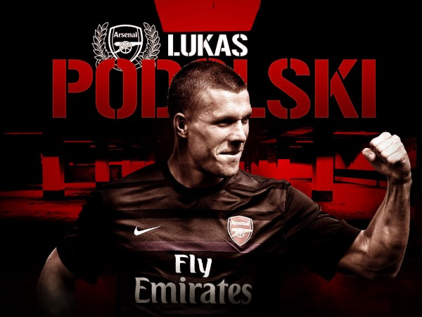 Wallpaper Podolski Arsenal 2012