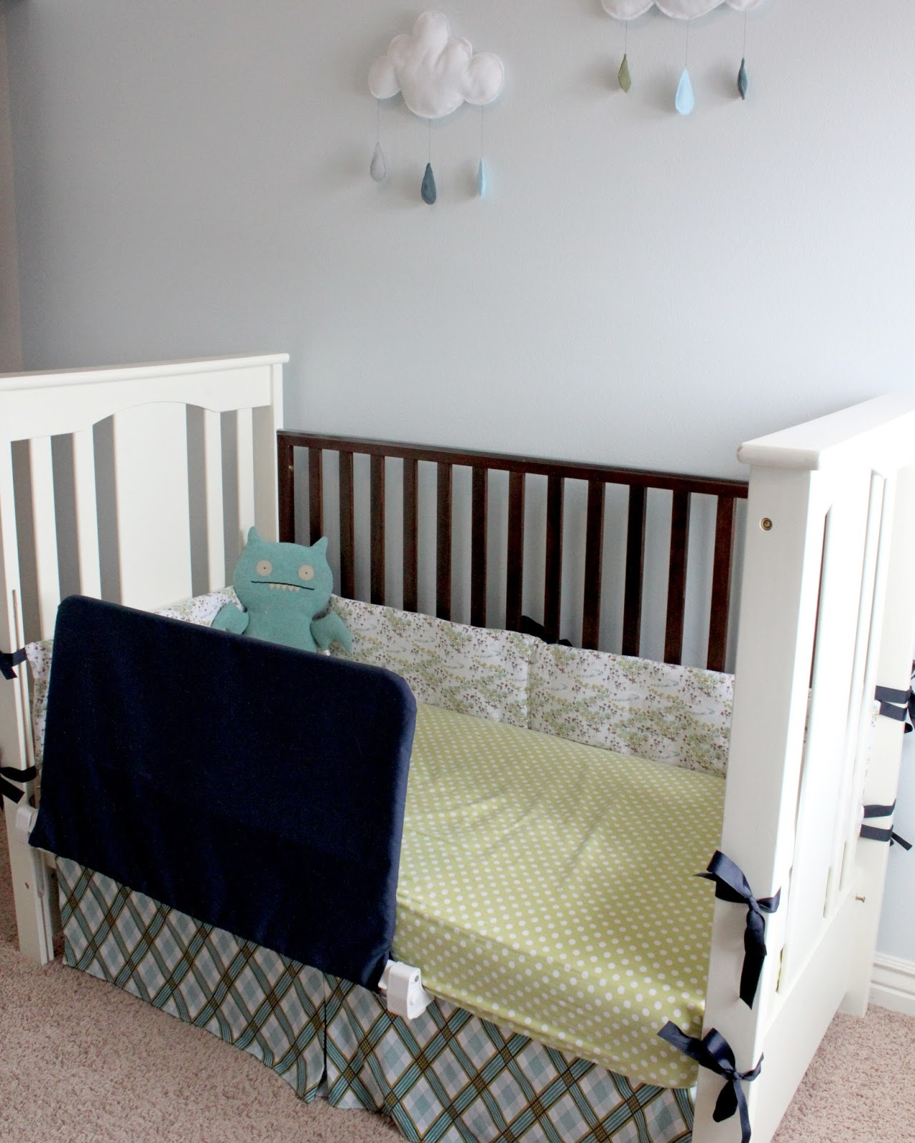 creatively christy: Improvising (DIY Bed Rail Cover)