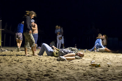 A night on the beach in Vama Veche