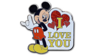 Mickey Mouse I Love You Sign Language Pin