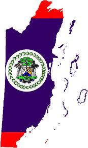 Belize-Flag map