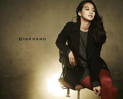 Shin Min Ah Giordano Fall 2012 Collection