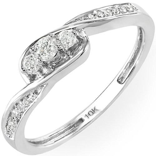 twisted promise engagement bridal ring rings