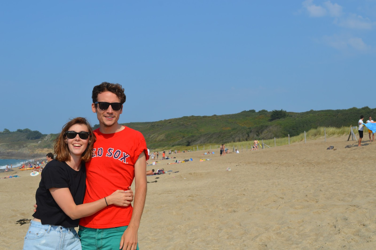 Me and Lewis on Brittany beach