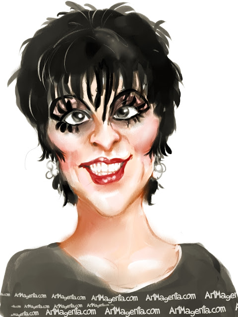 Liza Minelli is a caricature by Artmagenta