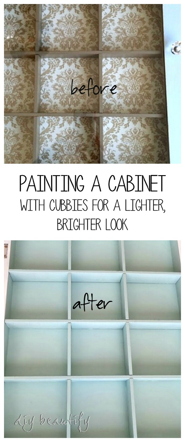 painted cabinet DIY beautify