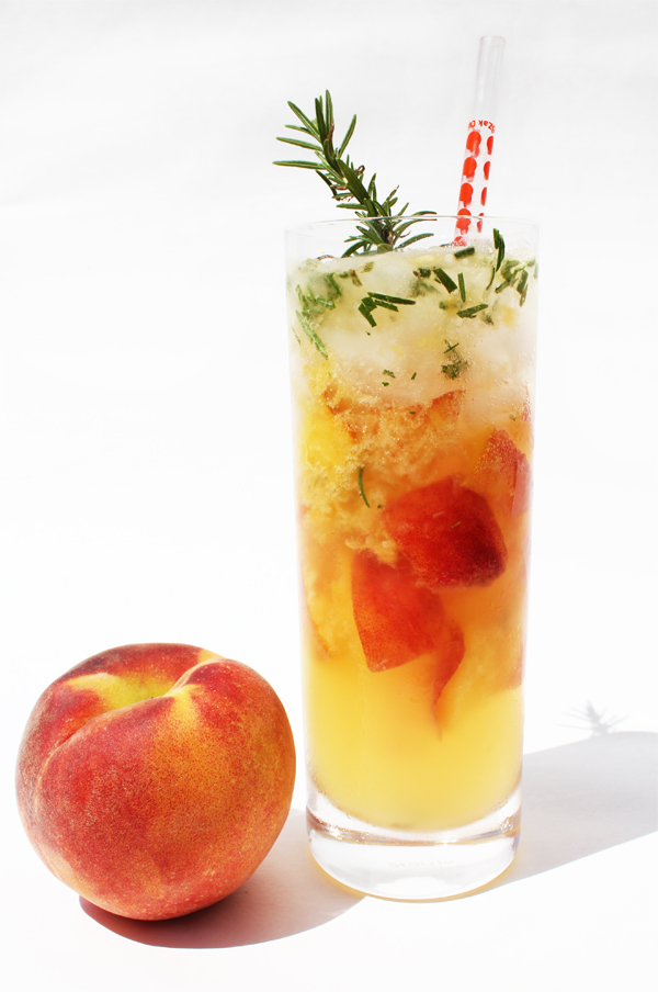 Fashionably Bombed: Mojito Monday: Peach & Rosemary
