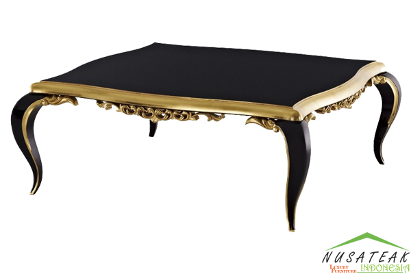 French Black Gloss Coffee Table - Nusa Teak