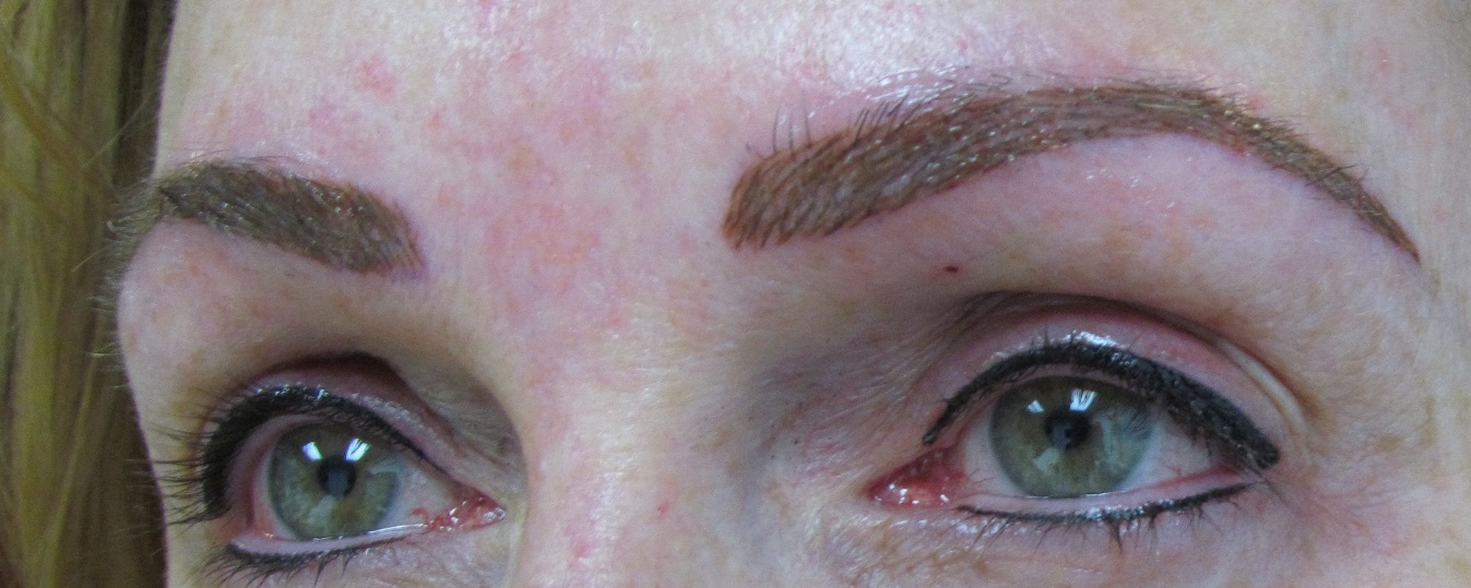 Dermagrafix permanent cosmetic studio are you eyebrow for Eyebrow tattoo aftercare instructions