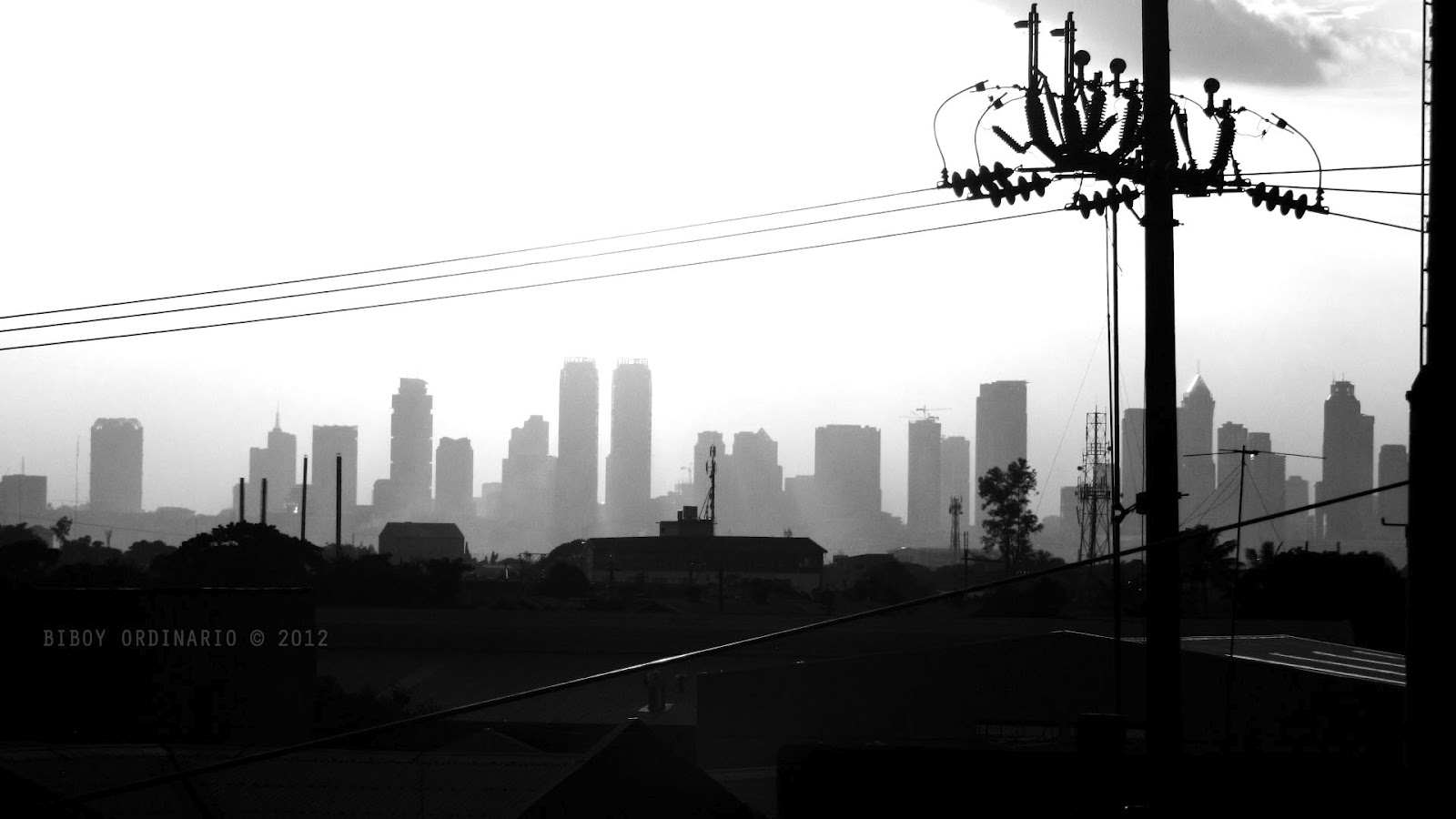 Photo of Silhouette of Power lines
