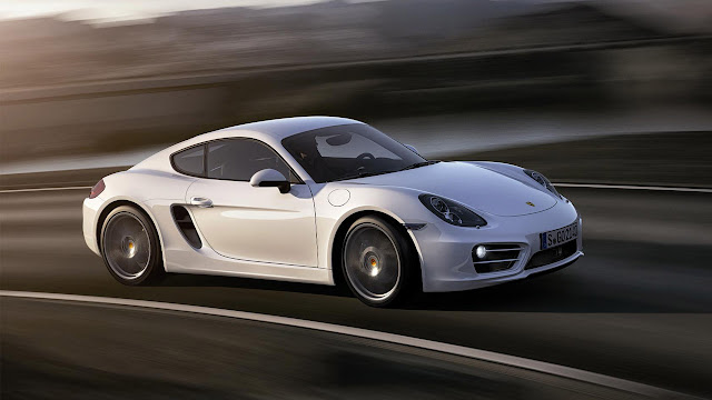 New Porsche Cayman unveiled at Los Angeles Auto Show 2012 side