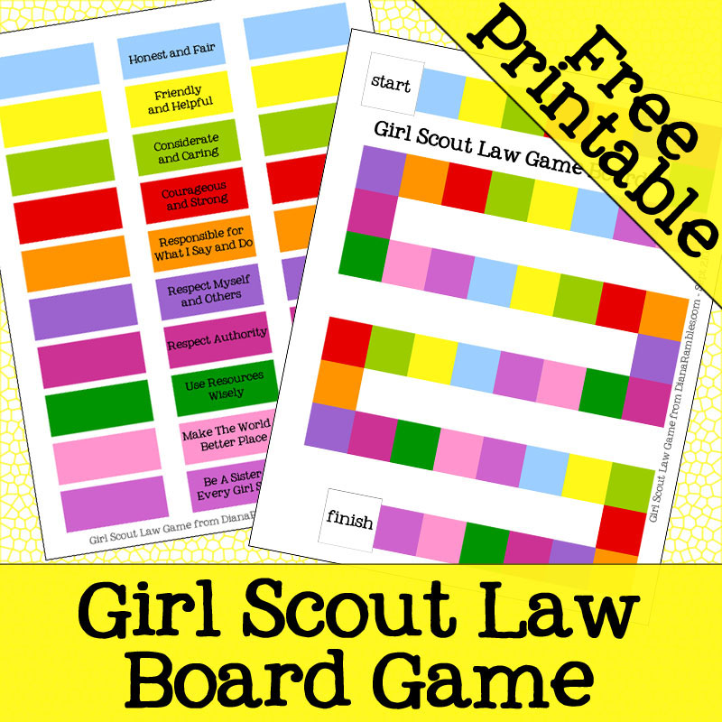Girl Scout Law/Promise and Yellow Daisy Petal Activities