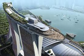 Skypark on top of Marina Sands Complex Singapore