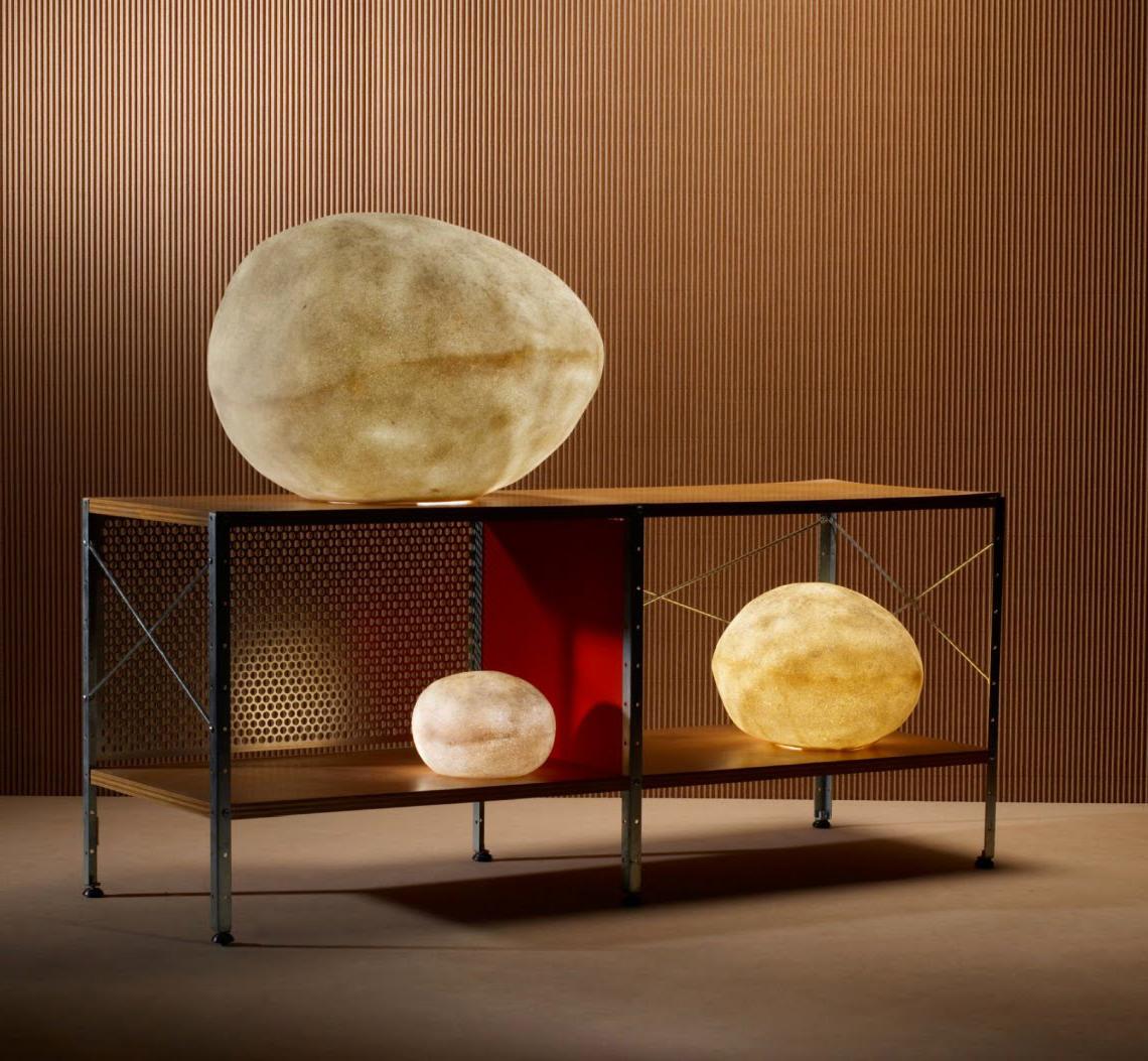 Natural luminous moon rock sculpture lamps modern rock for Rock lamp