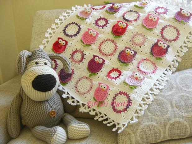 Free Crochet Pattern Owl Blanket : Owl Blanket Crochet Fantasy ~ Crochet Colorful