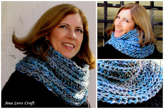 knitted scarf collar