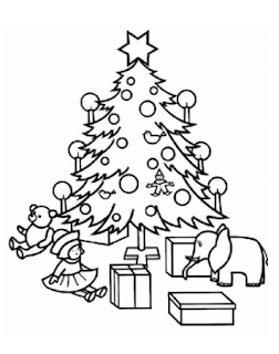 Riscos para pintura de árvores de natal