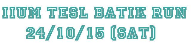TESL BATIK RUN 2015