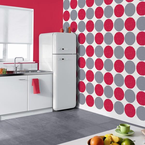 Blog de reformas 3 0 papel pintado en la cocina - Papel vinilico para cocinas ...