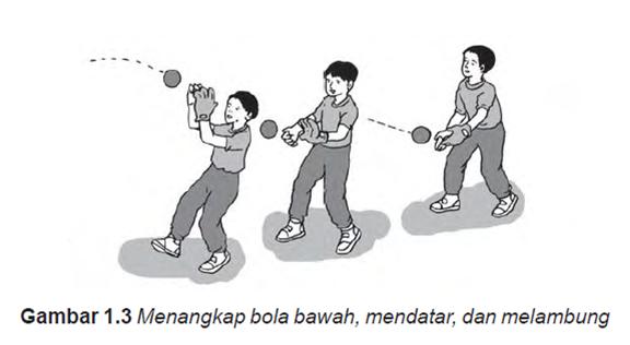 Latihan Menangkap Bola permainan kasti