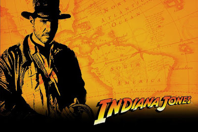 Background de la saga 'Indiana Jones', protagonizada por Harrison Ford. Dirigida por Steven Spielberg y producida por George Lucas. Making Of. Cine