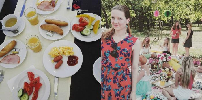 jídlo, piknik s blogerkami, kingswood, cosmopolitan časopis