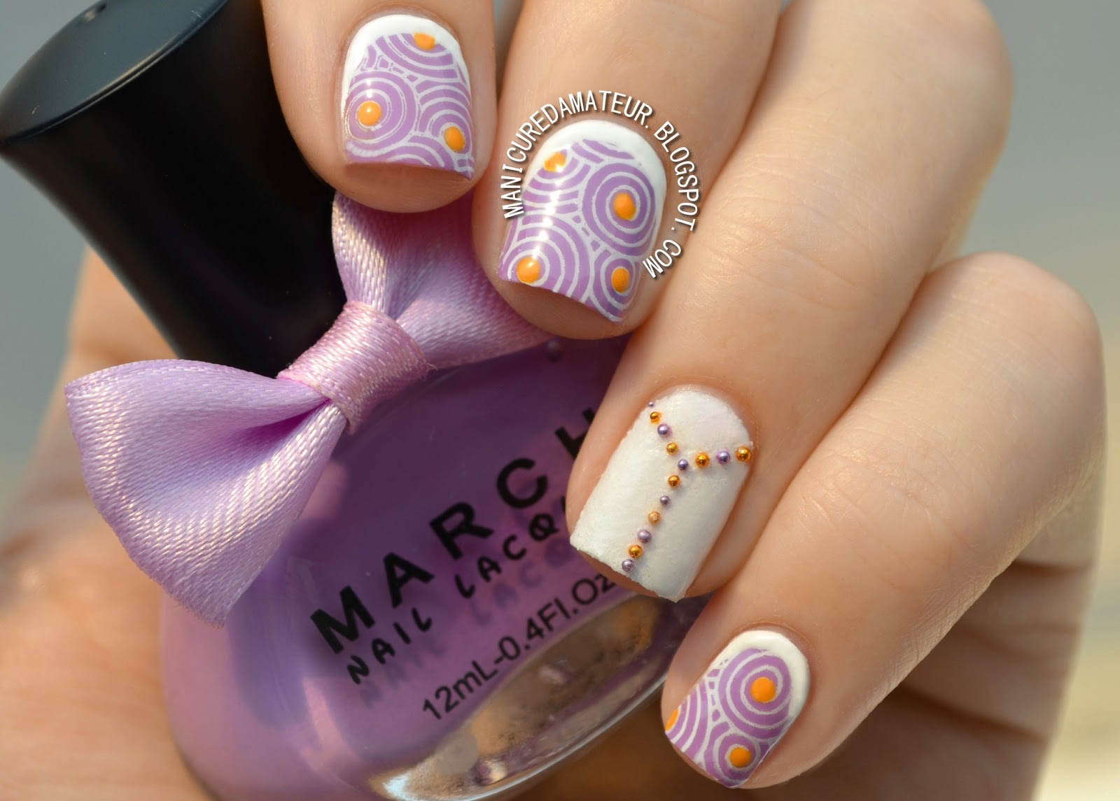 The manicured amateur swirly stamped ruffian nail art featuring swirly stamped ruffian nail art featuring born pretty store march nail lacquer prinsesfo Images