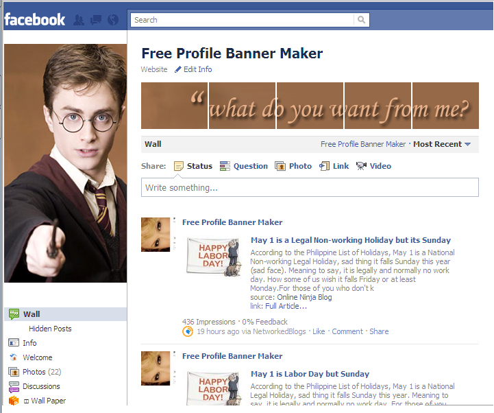 free facebook profile banner maker networkedblogs by ninua