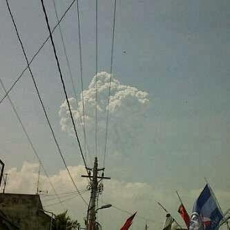 [FOTO] Gunung Merapi  Semburkan  Asap, Hujan Abu Di Sleman Dan Klaten