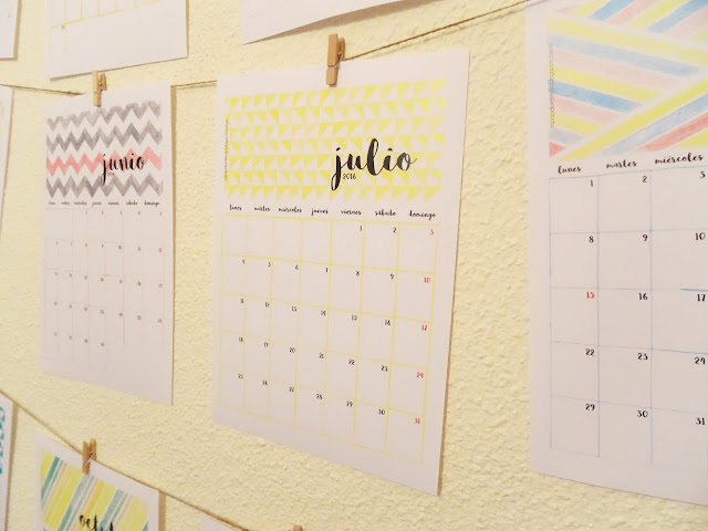 calendario acuarelas gratis 2016