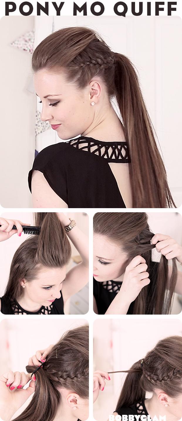 Mohawk Quiff Ponytail Hair Tutorial Hairstyles Tutorial