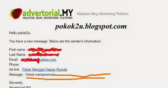 Rezeki Dapat Tugasan Advertorial Blog Lagi