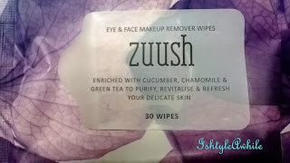 REVIEW: Zuush Eye and Face Makeup remover wipes image