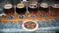 Carver Brewing sampler tray
