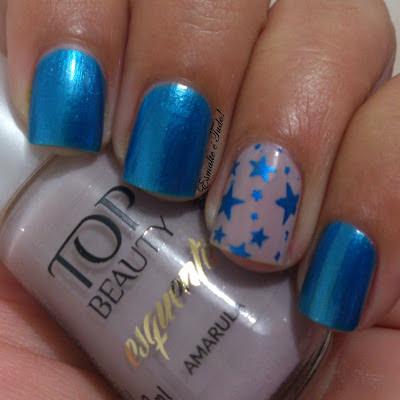 carimbada azul estrelas