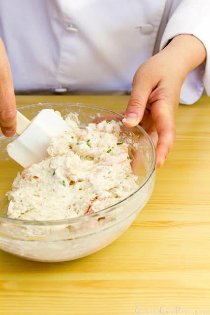 Pastel casero de pescado y gambas - Receta paso a paso - Ideal niños - Fiskekaker