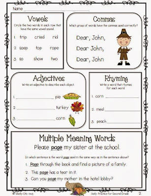 http://www.teacherspayteachers.com/Product/Daily-Practice-for-Second-Grade-November-935546