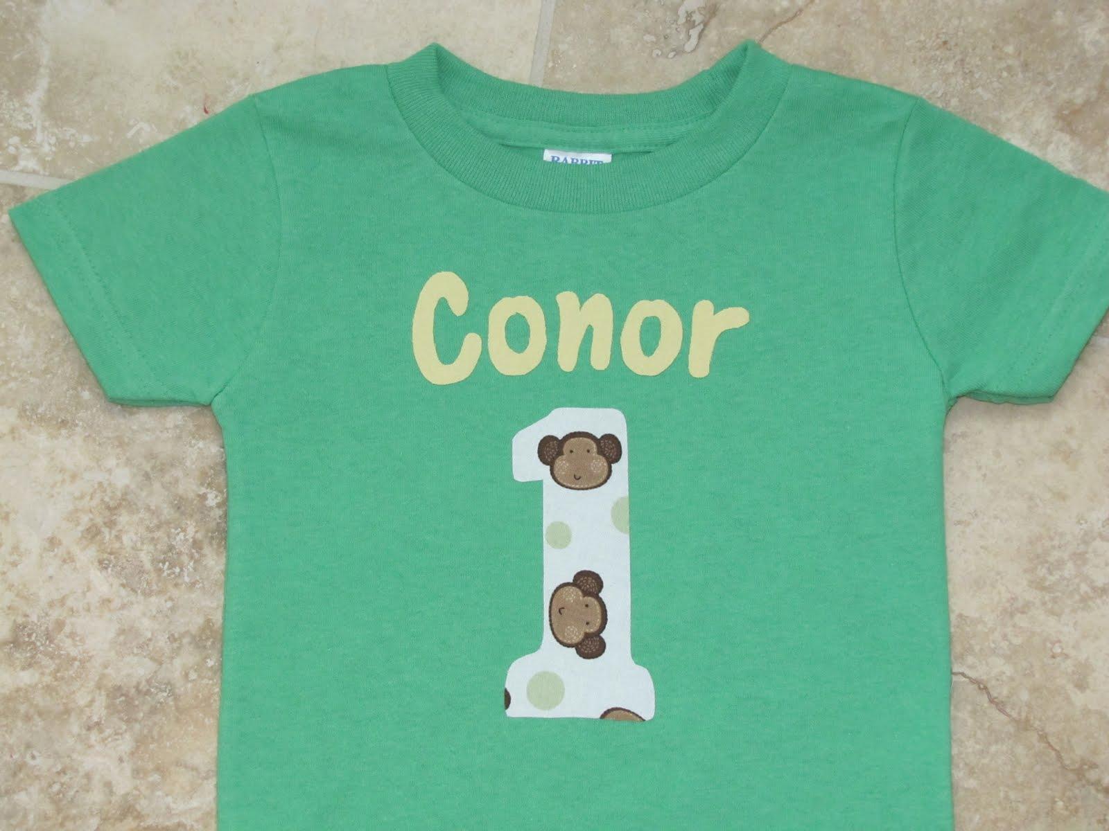 Curious George 1st Birthday Shirt