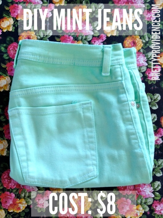 Dyed jeans - EASY and cheap!