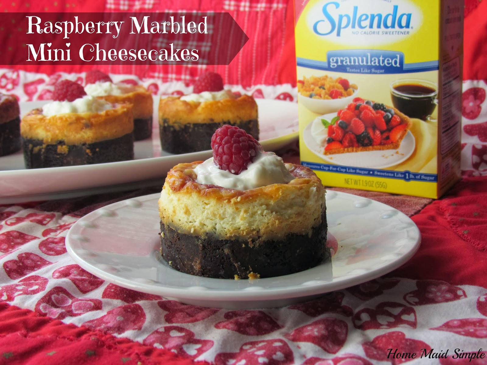 Raspberry Marbled Mini Cheesecakes with Splenda No Calorie Sweetener # ...