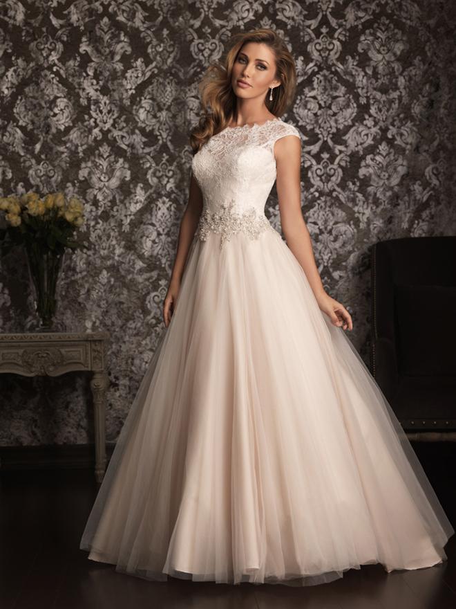 Allure bridals spring 2013 my dress of the week belle for Allure short wedding dress