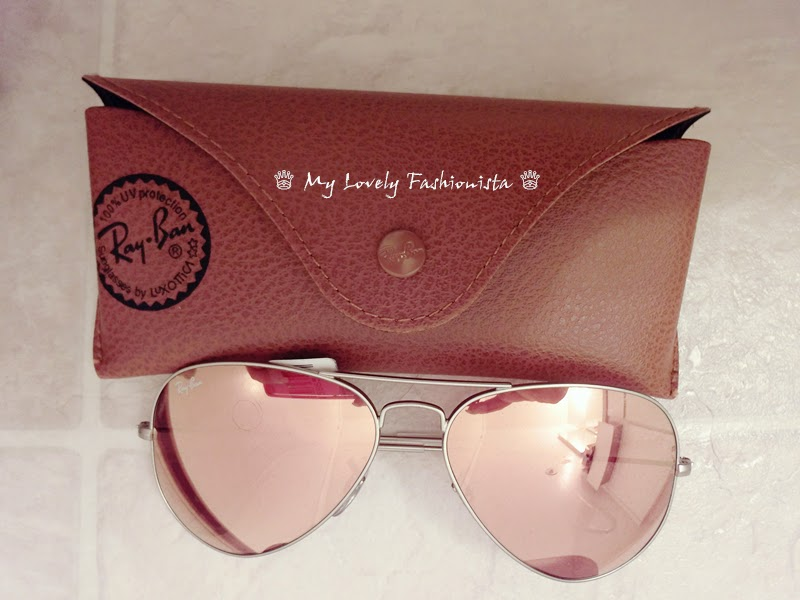 ray ban 39 original aviator 39 58mm sunglasses mirror lens brown pink my lovely fashionista. Black Bedroom Furniture Sets. Home Design Ideas