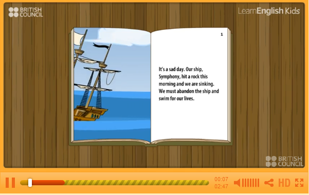 http://learnenglishkids.britishcouncil.org/en/short-stories/the-voyage-the-animal-orchestra
