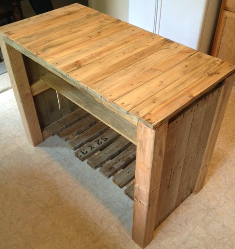 Kitchen Island Out Of Pallets: Noting Grace: DIY Pallet Kitchen Island For Less Than $50