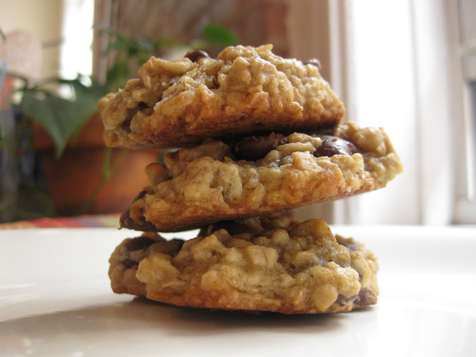 Sunday Treats: Banana Oatmeal Chocolate Chip Cookies