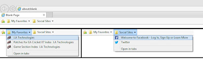 Bookmarking webpages in Internet Explorer