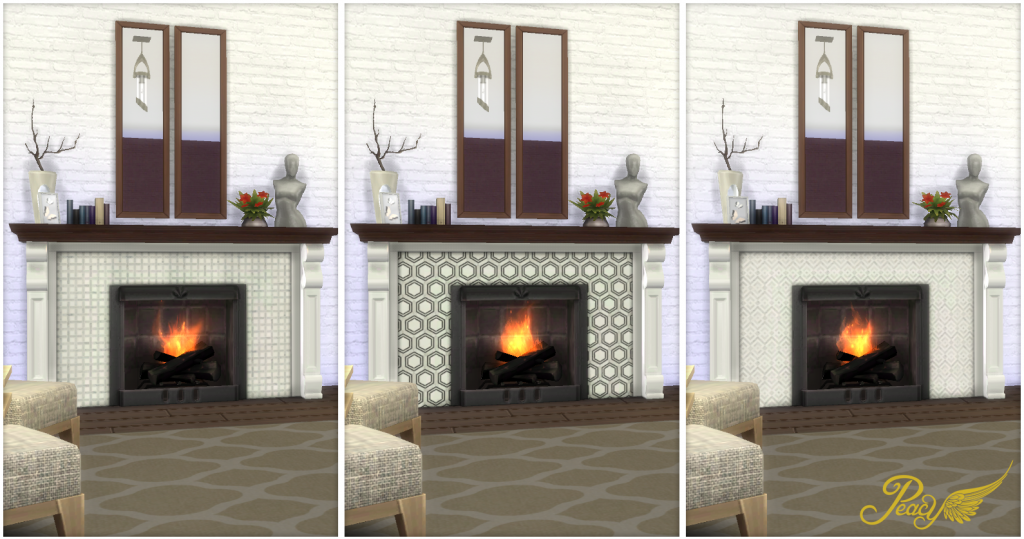 My Sims 4 Blog: Contemporary Fireplaces by Peacemaker ic